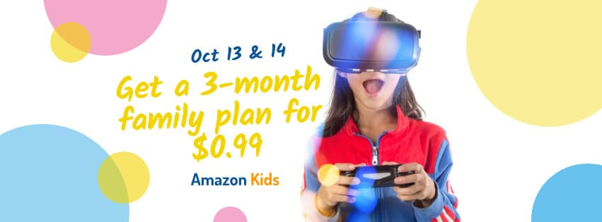 Amazon Kids+ 3 Month Plan $0.99