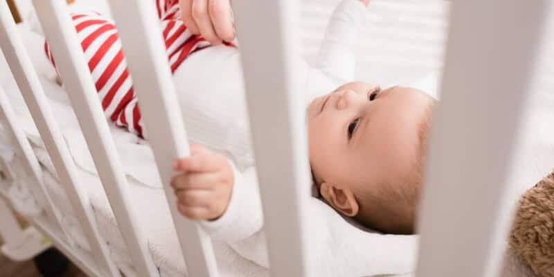baby getting leg stuck incribrails